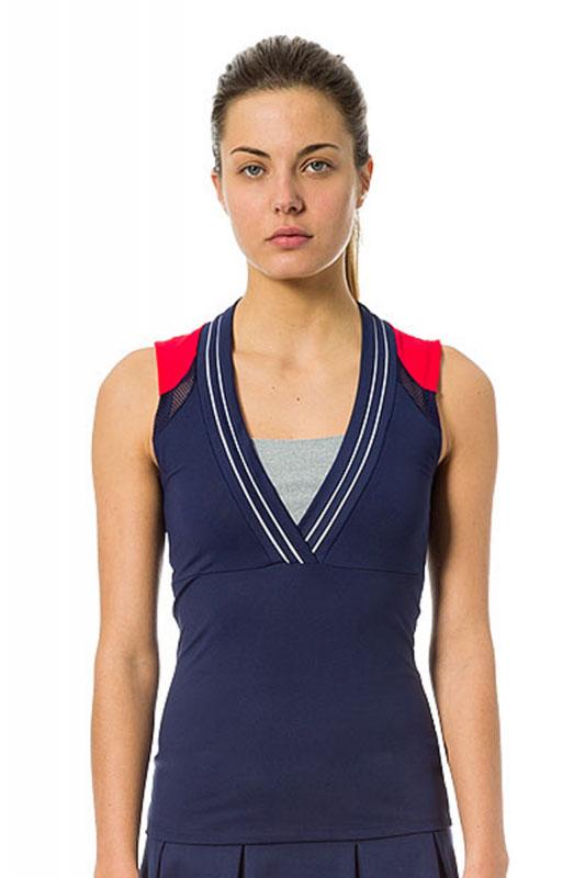 M 216tp Rojo F186 Ropa Marino Squash Naffta Tirantes Mujer Camiseta FFqf4T
